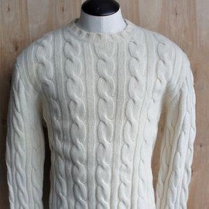 Men's J. Crew Wool Fisherman Sweater/ XL